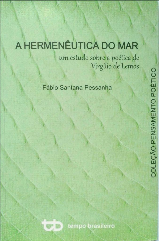 """Capa do livro """"A HERMENÊUTICA DO MAR"""" de Fábio Pessanha"""